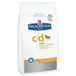 Hill`s PD Canine C-D сух. 2 кг Диета для собак профилактика и лечение МКБ струвиты 1х6 8654