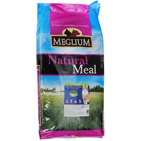 MEGLIUM ADULT Корм сух. 15 кг для кошек говядина курица овощи MGS0115