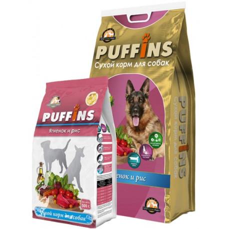 PUFFINS  Ягненок и рис 15 кг